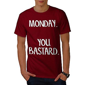 Monday You Bastard Men RedT-shirt | Wellcoda