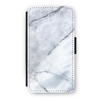 Samsung Galaxy A3 (2016) Flip Case - marmor hvit