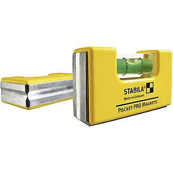Mini spirit level 7 cm Stabila POCKET PRO MAGNET