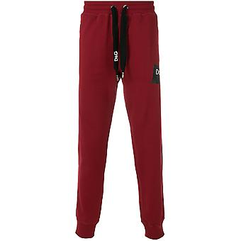 Dolce E Gabbana men GY1KATFU7DUR3484 red cotton joggers