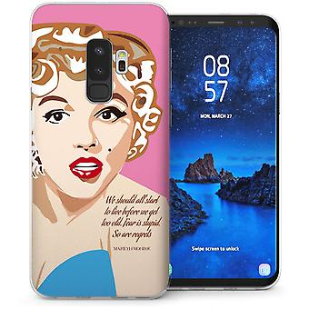 Samsung Galaxy S9 Plus Marilyn Monroe Regrets Quote TPU Gel Case – Pink