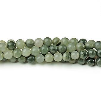Strand 90+ Green Line Quartz 4mm Plain Round Beads CB43421-1
