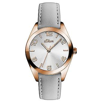 s.Oliver women's watch wristwatch leather SO-3144-LQ