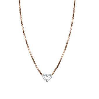 ESPRIT women's chain necklace silver Rosé cubic zirconia Pico love ESNL93375C420