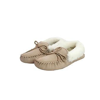 Eastern Counties Leather Womens/Ladies Hard Sole Sheepskin Moccasins