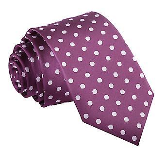 Schmale Krawatte lila Polka Dot