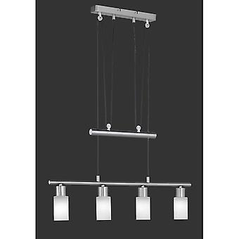 Trio Lighting Jones Modern Nickel Matt Metal Pendant