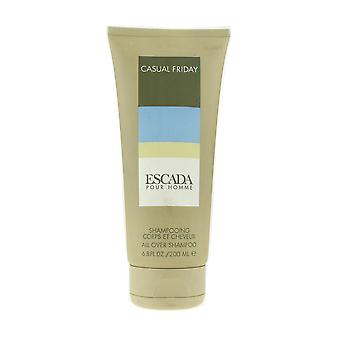Escada Pour Homme 'Casual Friday' All Over Shampoo 6.8oz/200ml Unboxed
