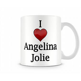 I Love Angelina Jolie Printed Mug