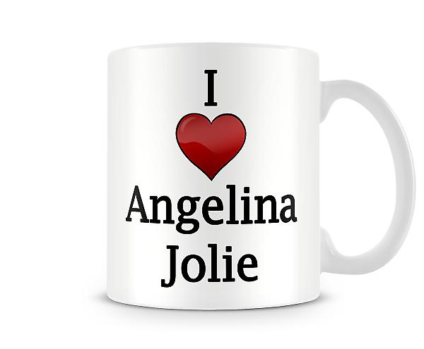I Love Angelina Jolie Printed Mug