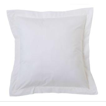 Wellindal Combi Cushion Cover 100% Cotton Cala Tab White 55X55 + 5 Cm