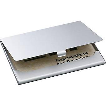 Sigel Business card case 15 cards (W x H x D) 92 x 63 x 5 mm Silver (matt) Aluminium VZ135