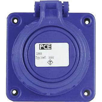 PCE 20352-8b Add-on socket IP68 Blue