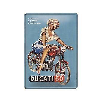 Postal de Metal Ducati 60 / mini-signo