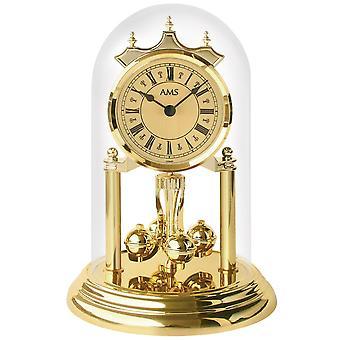 Tabel jaar horloge kwarts mineraal glas messing look kunststof