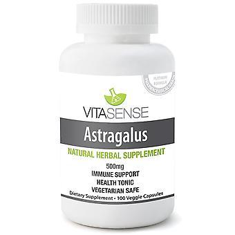 VitaSense Astragalus 500 Mg - immunsystemet Support - 100 Veg kapslar