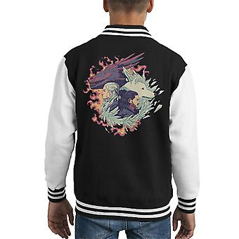 Ice And Fire Game Of The Thrones Kid's Varsity Jacket