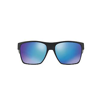 Oakley Two Face XL Sunglasses In Matte Black Sapphire Prizm Polarised