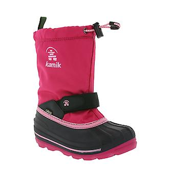 Kamik lined Gore-Tex kids winter boots pink