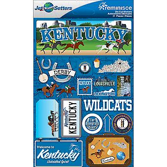 Jet Setters Dimensional Stickers-Kentucky