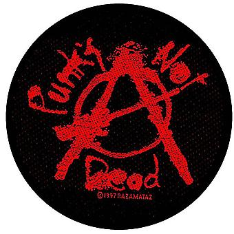 Punk's Not Dead round sew-on cloth patch  90mm diameter (ro)
