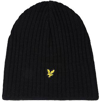 Lyle and Scott Knitted Ribbed Beanie  True