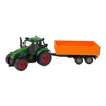Tractor frictie met aanhanger 37cm