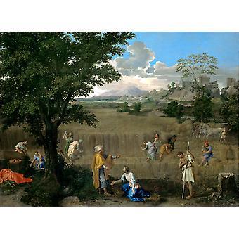 Summer (Ruth and Boaz), Nicolas Poussin, 50x40cm