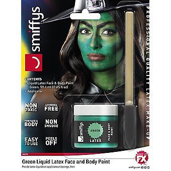 Liquid Latex Pot & Sponge Applicator, GREEN