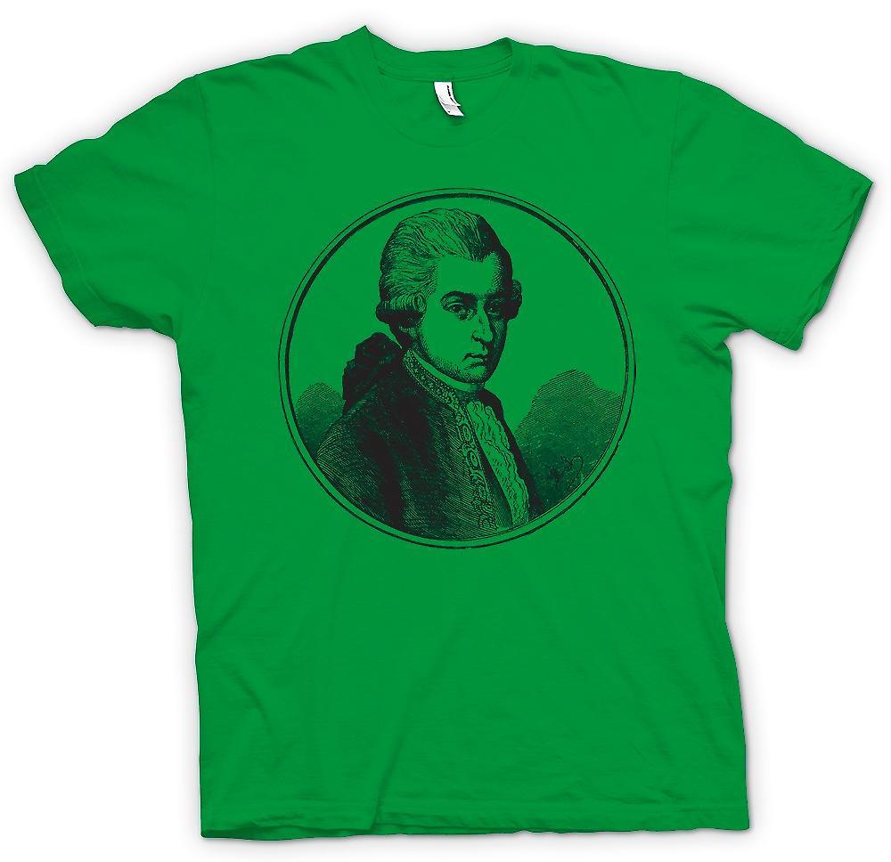 Hombres camiseta-Wolfgang Amadeus Mozart