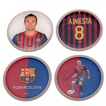 FC Barcelona Iniesta 3D Stickers (Pack Of 4)