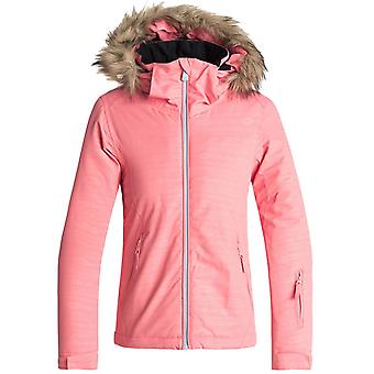 Roxy Shell Pink-Indie Stripes Jet Embossed Girls Ski Jacket