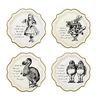 Alice in Wonderland Paper Plate Pack of 12 - Alice Birthday Party