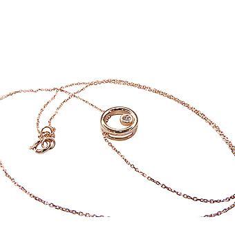 Collier en or blanc avec pendentif cercle