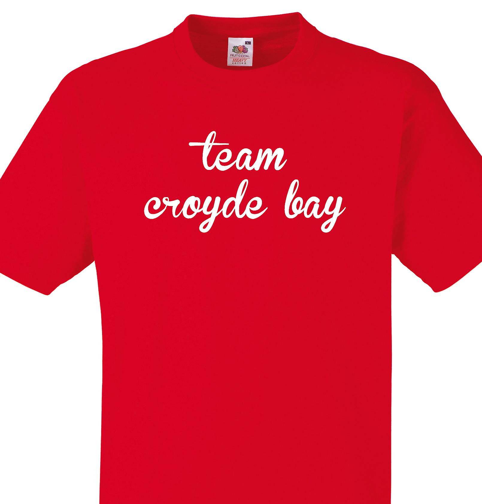 Team Croyde bay Red T shirt