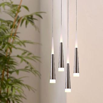 Plafond lumineux Long fil pendentif lampe Bi directionnel quatre pendentif carré couvert d'éclairage
