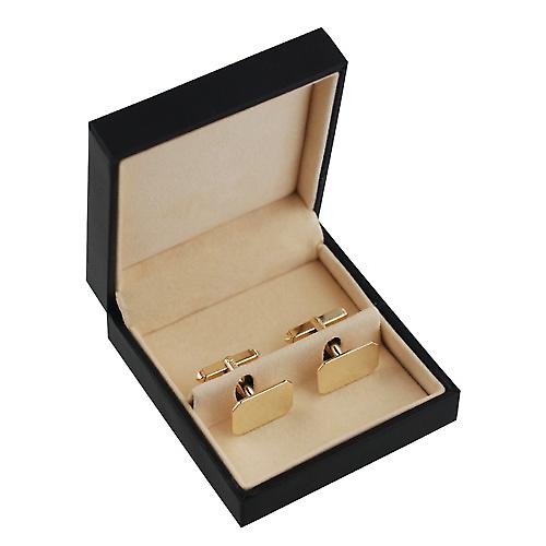 9ct Gold 18x12mm swivel Cufflinks