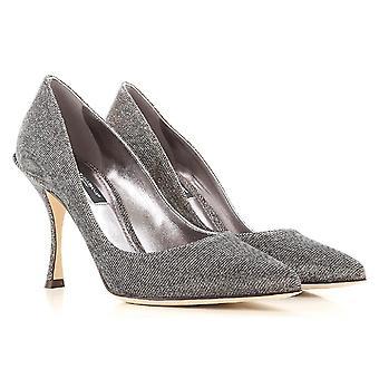 Dolce & Gabbana naisten classic pumput lurex vaikutus hopea tekstiilituotteiden fiber