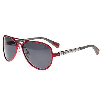 Breed Dorado Titanium Polarized Sunglasses - Red/Black