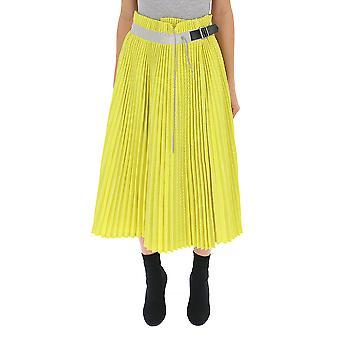 Sacai geel Polyester rok