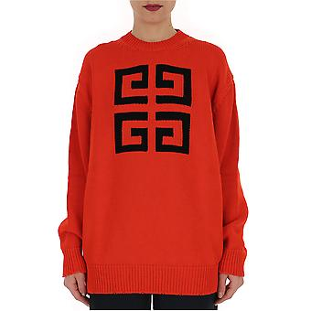 Givenchy Red Cotton Sweatshirt
