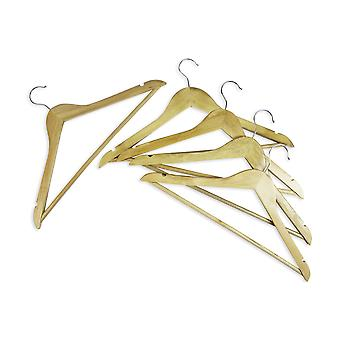 Coat Hanger Wood Pack of 20 Adult Clothes Trouser Hangers with Chrome Hook and Non Slip Bar plus indents for hanging straps.