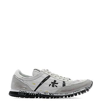 Premiata White Leather Sneakers