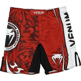 Venum Mens Carlos Condit NBK Championship Ed. Fight Shorts - Red