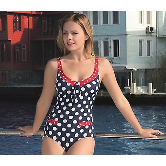 أكوا بيرلا - سيدات - باريسين - النقاط الزرقاء - ملابس السباحة قطعة واحدة