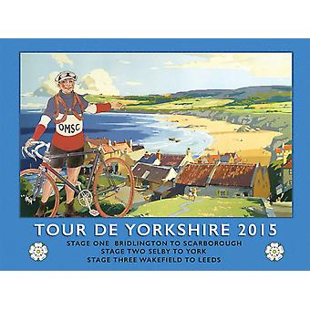 Tour de Yorkshire Beach large steel wall sign  (og 4030)