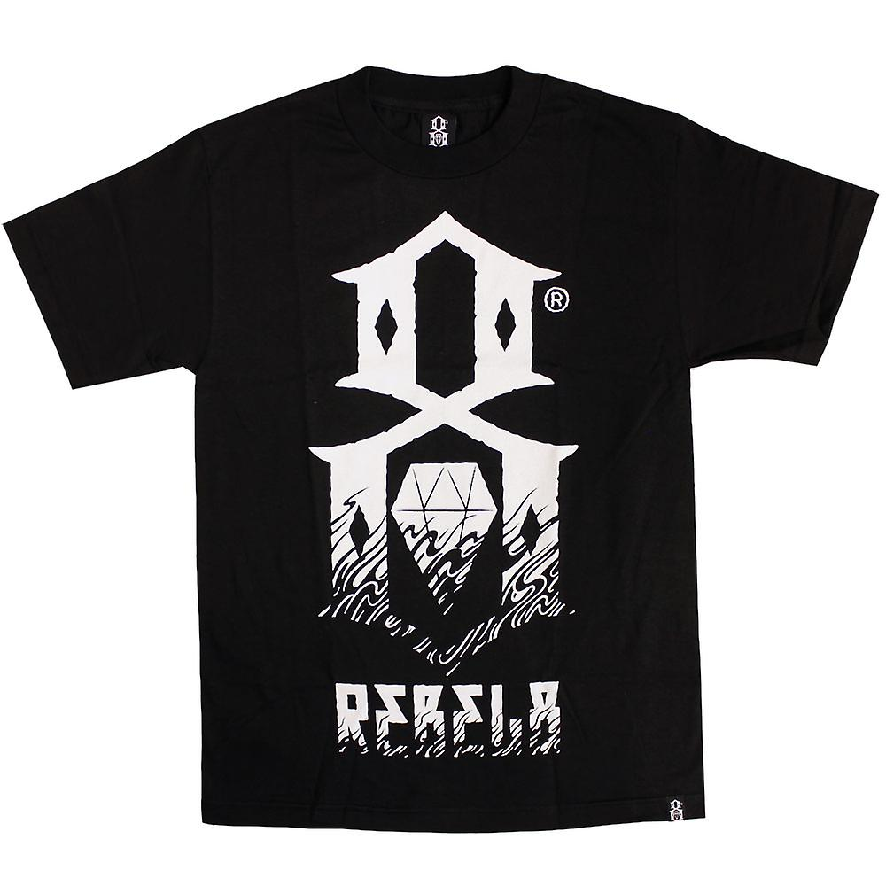 Rebel8 Up in flames T-shirt black