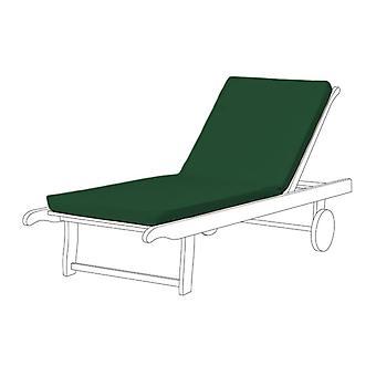 Gardenista® almohadilla de asiento resistente al agua verde para tumbona, Pack de 2
