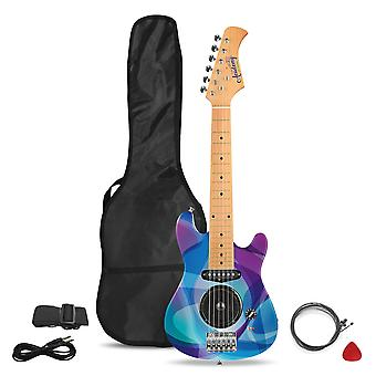 Toyrific Academy Of Music 30in Electric Guitar Purple Swirls