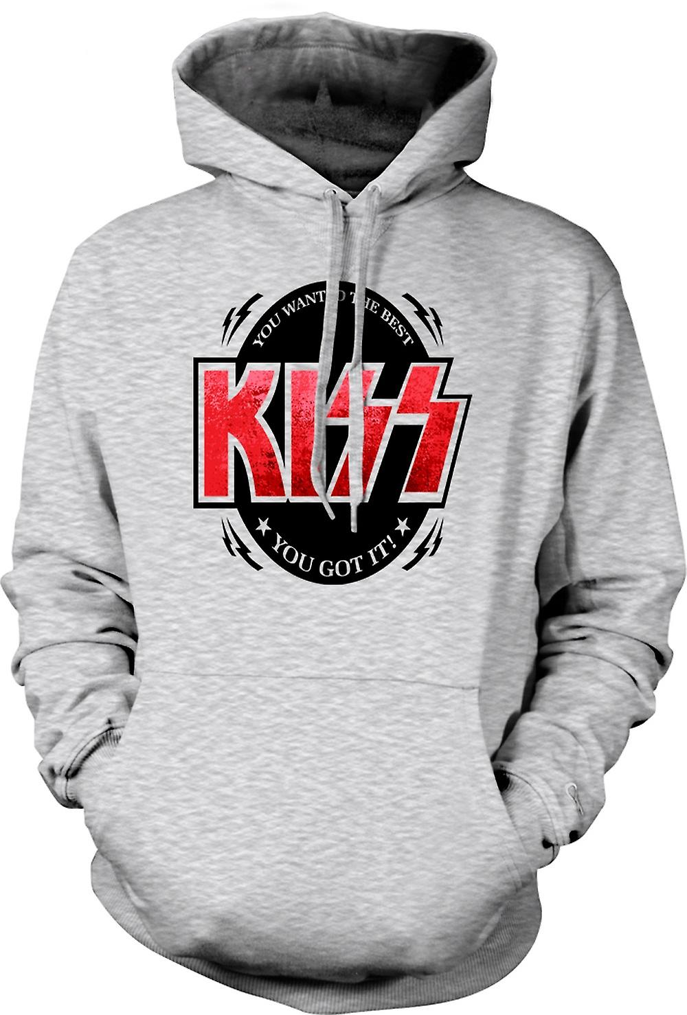 Mens Hoodie - Kiss - You Wanted The Best
